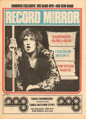 Record Mirror Feb 26 1972 cover