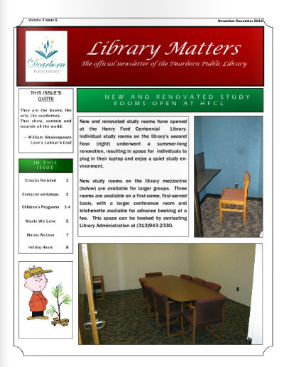 Library Matters Nov-Dec 2011 cover
