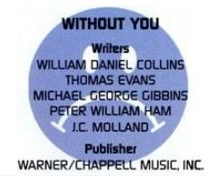 ASCAP Pop Music Awards 1995 Without You