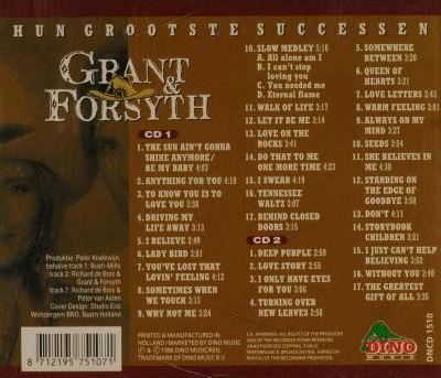 Grant & Forsyth - Hun grootste successen 1996 back