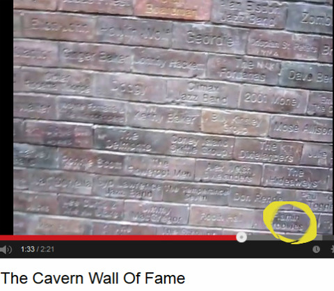 Cavern Wall of Fame Flamin Groovies 2 right