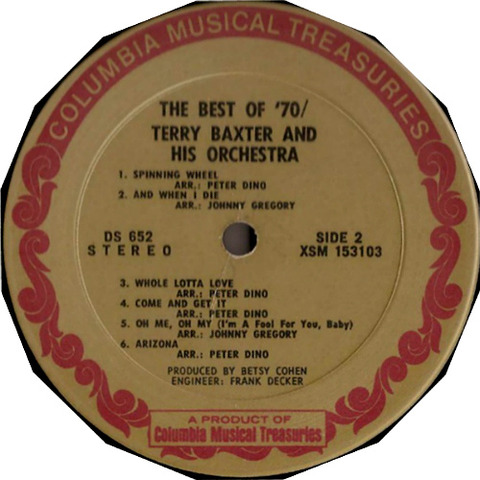 Terry Baxter and His Orchestra The Best of '70 r4