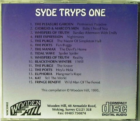 Syde Tryps One (CD 1995) back