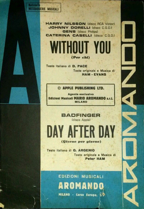 Sheet Music Without You Day After Day aromando