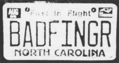BADFINGR North Carolina