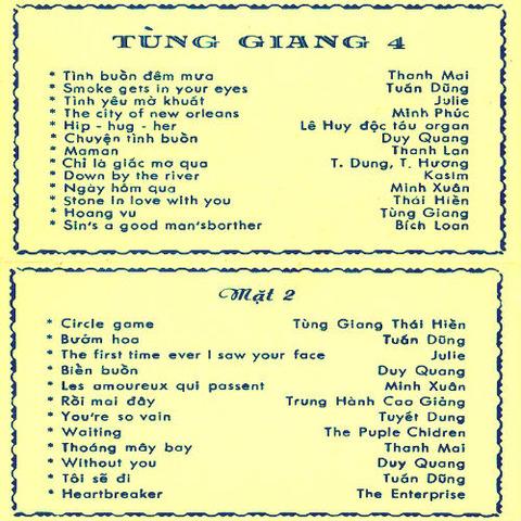 Duy Quang - Tùng Giang 4 Sinh Hoạt Nhạc Trẻ b