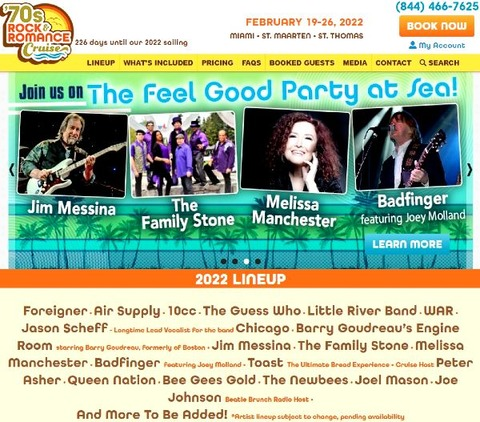 Rock and Romance Cruise February 19-26, 2022 a