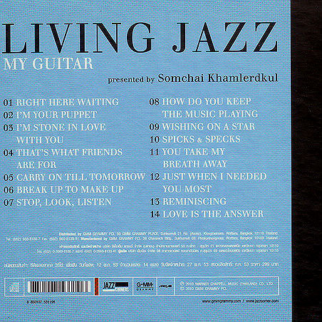 Somchai Khamlerdkul Living Jazz My Guitar back