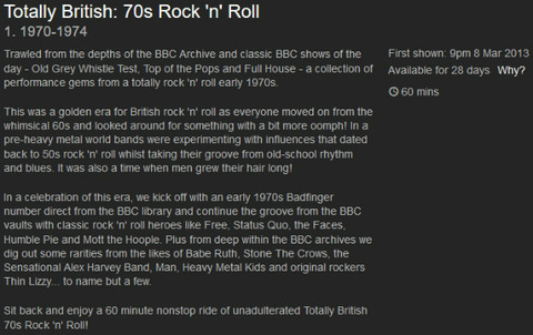 Totally British 70s Rock 'n' Roll (1970-1974)