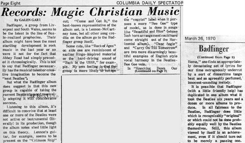Columbia Daily Spectator (March 26, 1970)