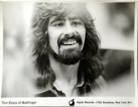 Tom Evans of Badfinger original press photo