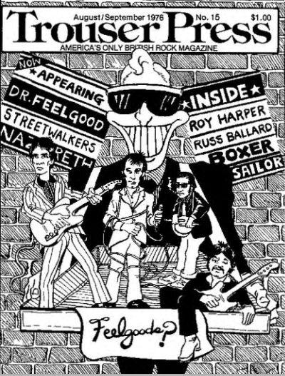 Trouser Press 1976 #15 AugustSeptember cover