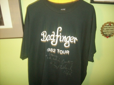Autographed T-shirt of Joey Molland of Badfinger a