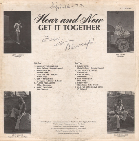 Hear and Now - Get It Together (1972) back