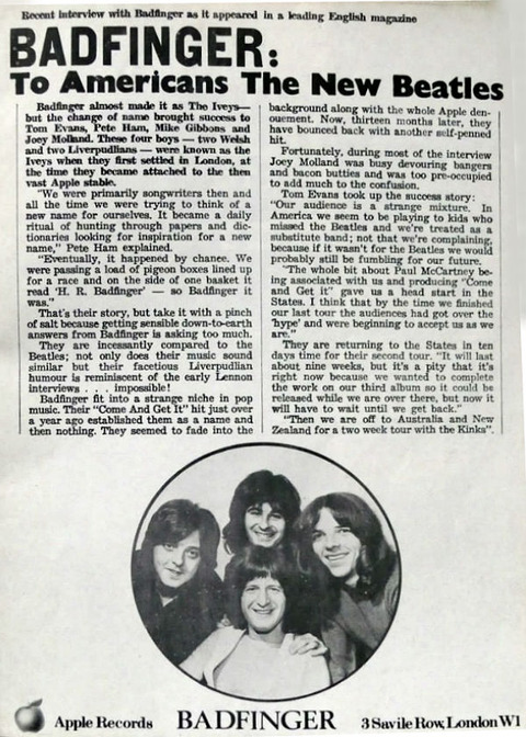 Kinks & Badfinger 1971 Australian tour concert program 05