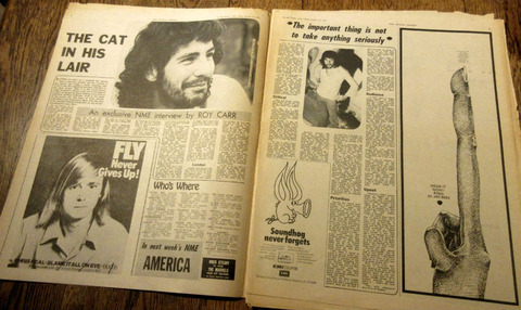 NME #1302 (January 15, 1972) ad