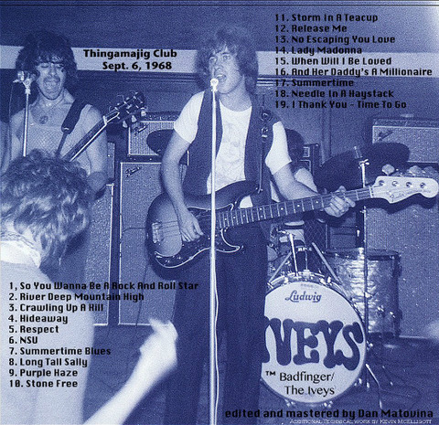 The Iveys Anthology - Vol 1,  Live at Thingamajig Club 1968