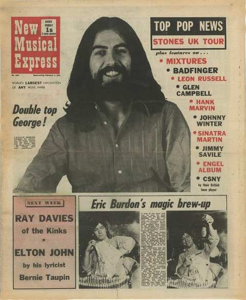 New Musical Express Feb 6 1971 cover