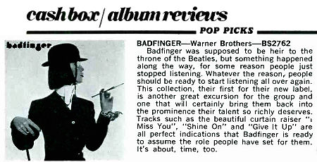 CB19740223 album reviews badfinger