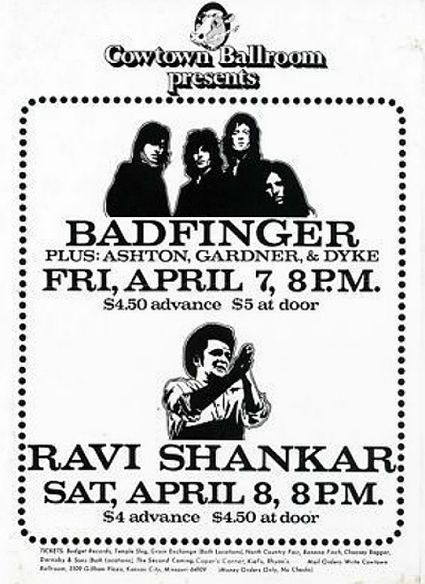 Badfinger Cowtown Ballroom April 7, 1972