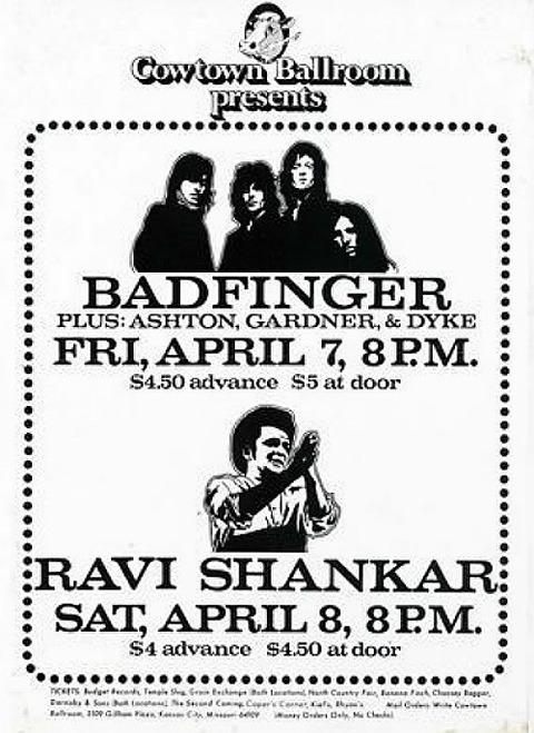 Badfinger Cowtown Ballroom April 7, 1972