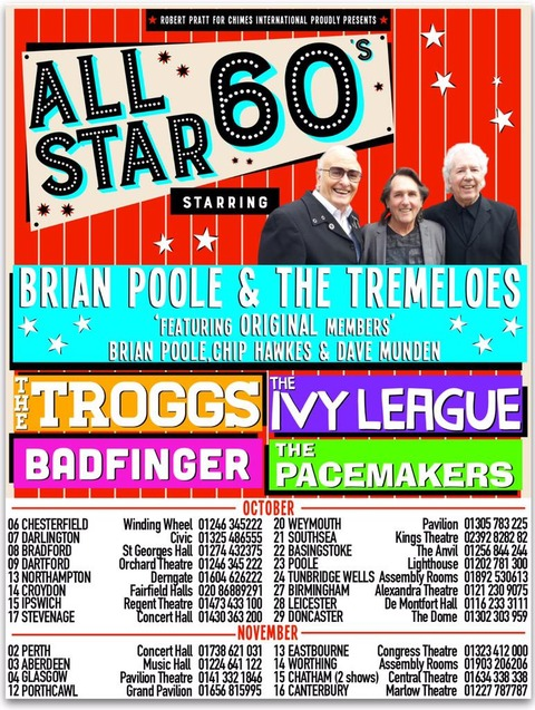 All Stars 60's Tour (Oct-Nov 2015)