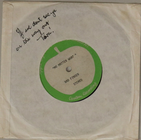 Lot 177 Badfinger No Matter What Acetate Omega Auction Feb 2018