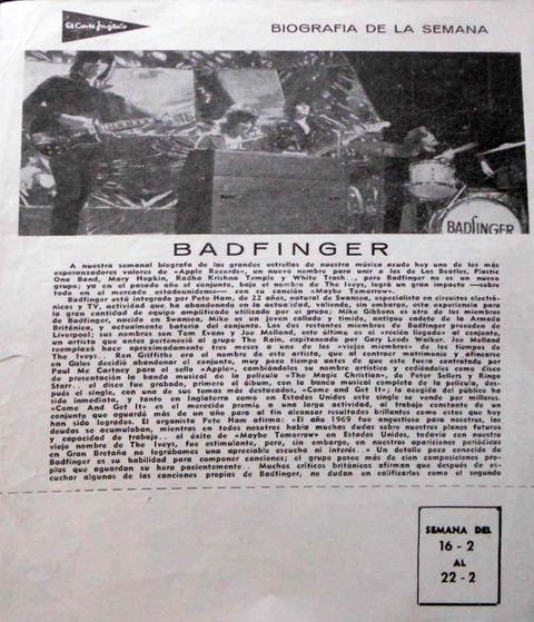 Biografia de la semana Feb 16 1970