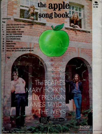 The Apple Song Book 1969 USA b