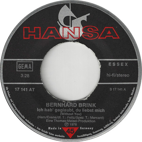 Bernhard Brink - single r1