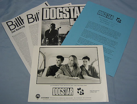 Dogstar - Our Little Visionary (1996) press kit -