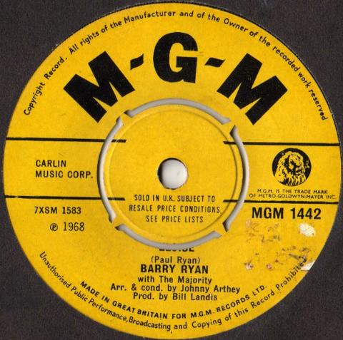 Barry Ryan - Eloise (1968)