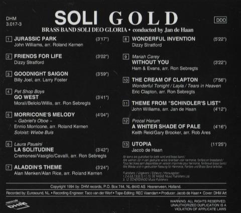 Jan de Haan - Soli Gold back