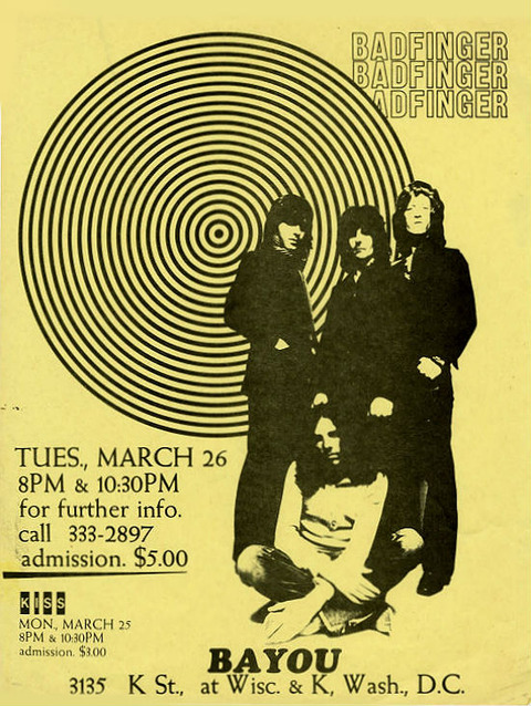Badfinger The Bayou Club, Washington DC, March 26, 1974