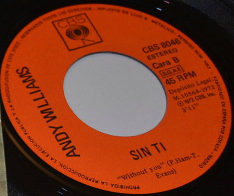 Andy Williams - CBS 8046 Sin ti