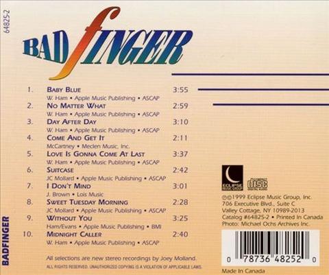 bjm CD 1999 Eclipse Badfinger back