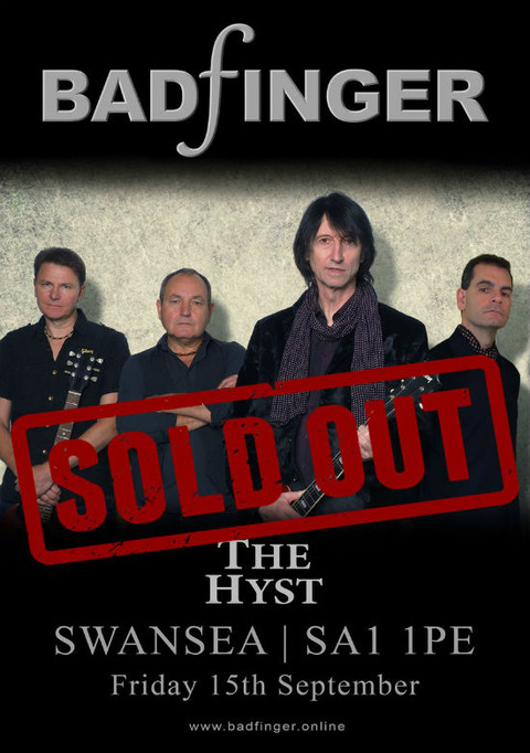 Badfinger at The Hyst Swansea (Sep 15, 2017) sold out