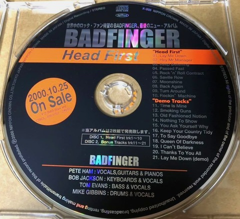 Badfinger - Head First X-335 1cd a