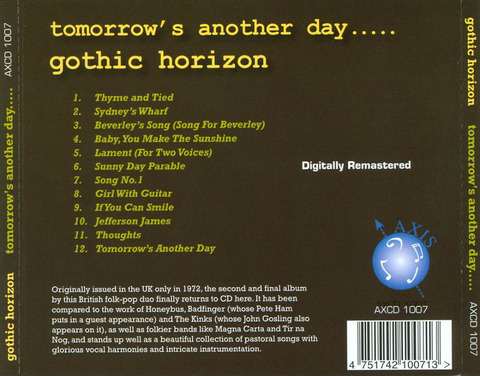 Gothic Horizon - 2010 CD back
