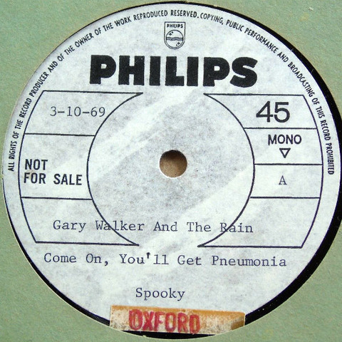 Gary Walker & The Rain 10'' Acetate a