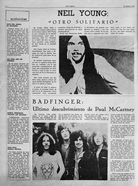 Disco Expres #109 (Feb 12, 1971) Badfinger