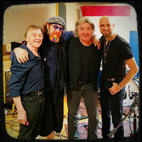 Mark Hudson Steve Holley Mario J McNulty working on new tracks