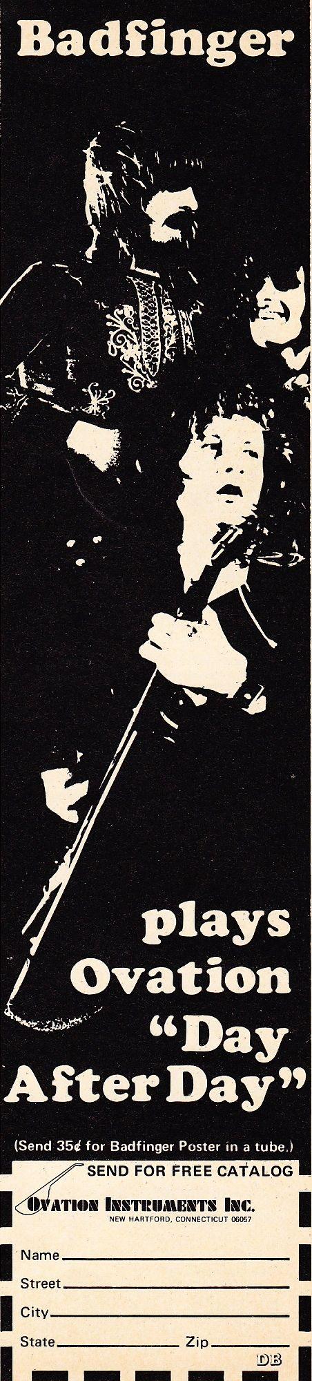 Badfinger Ovation ad 1973