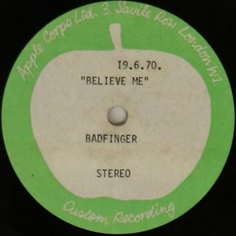 Lot 8 BADFINGER - BELIEVE ME - APPLE ACETATE Omega