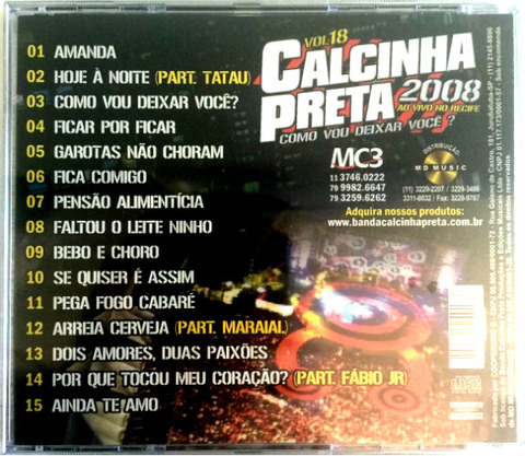 Calcinha Preta - CD 18 b 15 songs