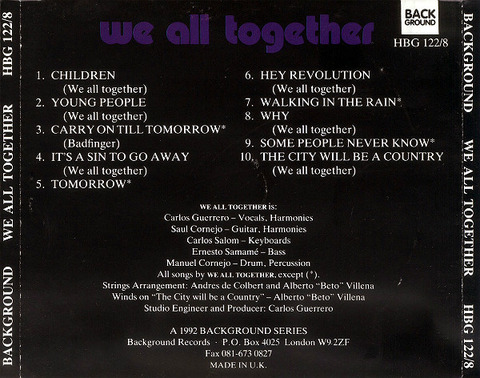 We All Together 1992 Background back