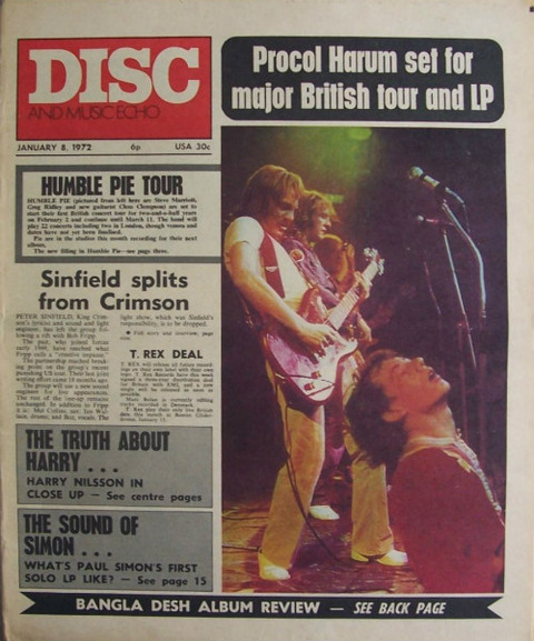 Disc and Music Echo Jan 8, 1972 cover