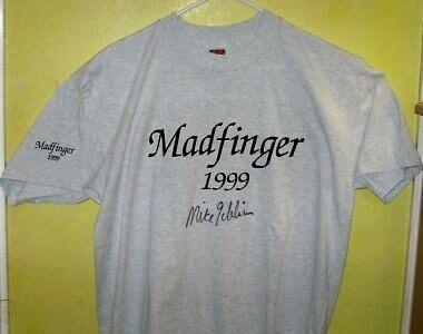 Madfinger 1999 Signed T-shirt Mike Gibbins