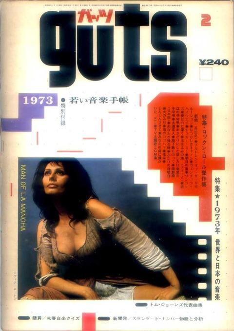 guts ガッツ February 1973 cover
