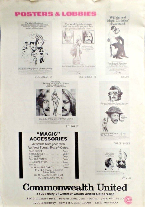 The Magic Christian 1969 Promo Program Pressbook back